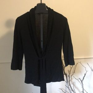 Women's black M rayon blend 3/4 sleeve cardigan
